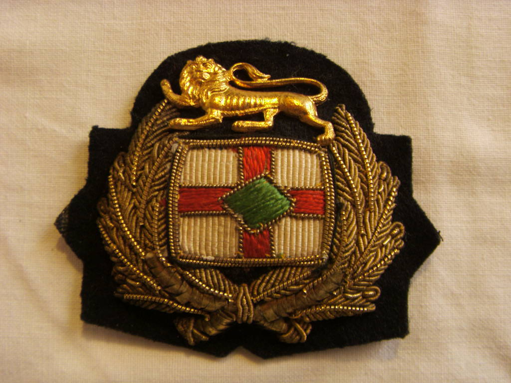 OFFICERS BADGE FROM THE BRITISH PETROLEUM COMPANY LONDON ENGLAND