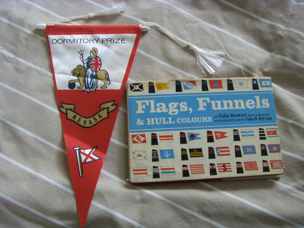 FLAGS, FUNNELS & HULL COLOURS BOOK & PENNANT FROM 1963