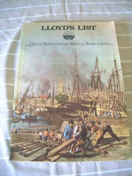 250TH ANNIVERSARY BOOK OF LLOYDS OF LONDON