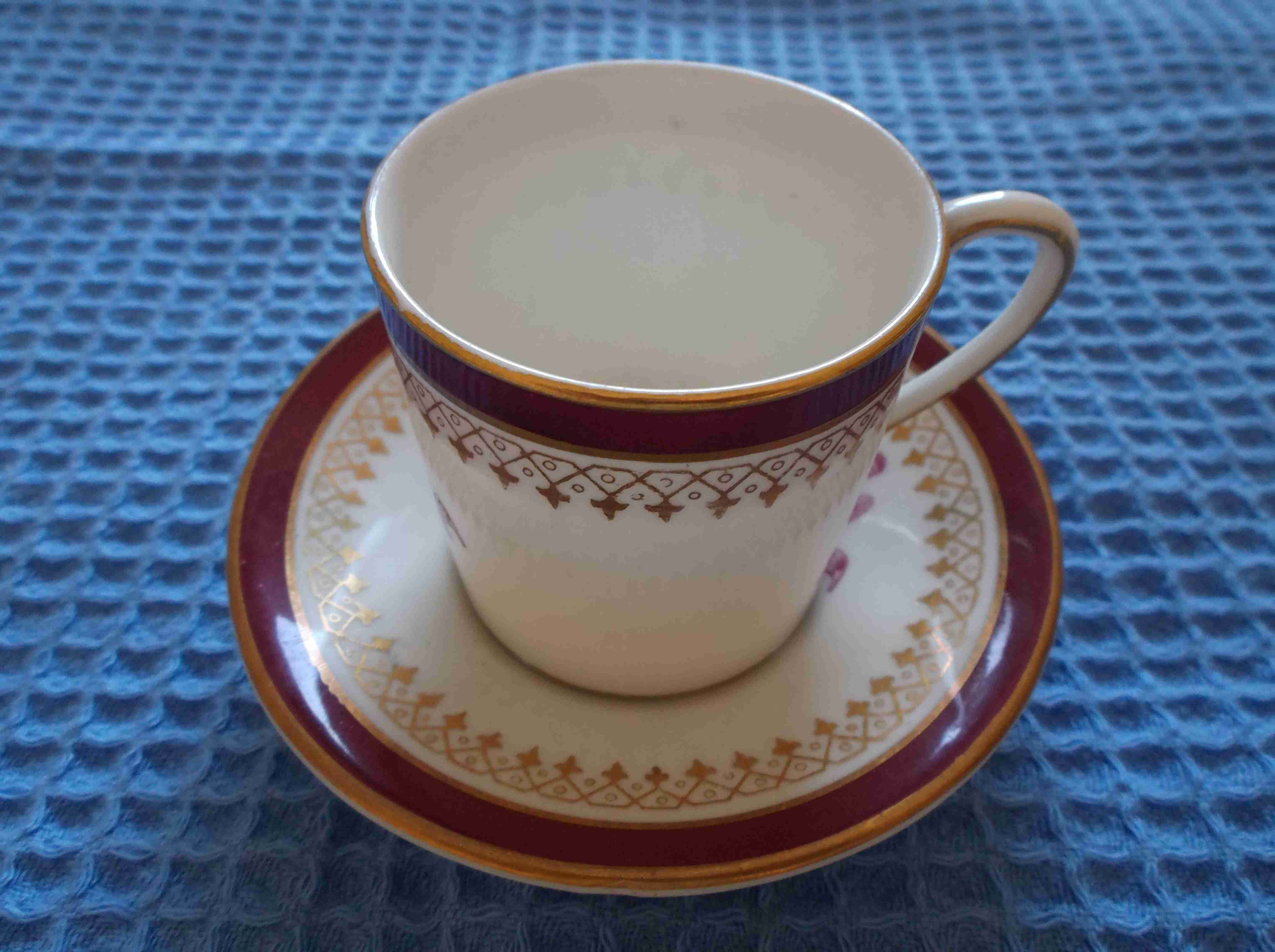 SOUVENIR MARITIME CUP AND SAUCER FROM UNKNOWN SOURCE