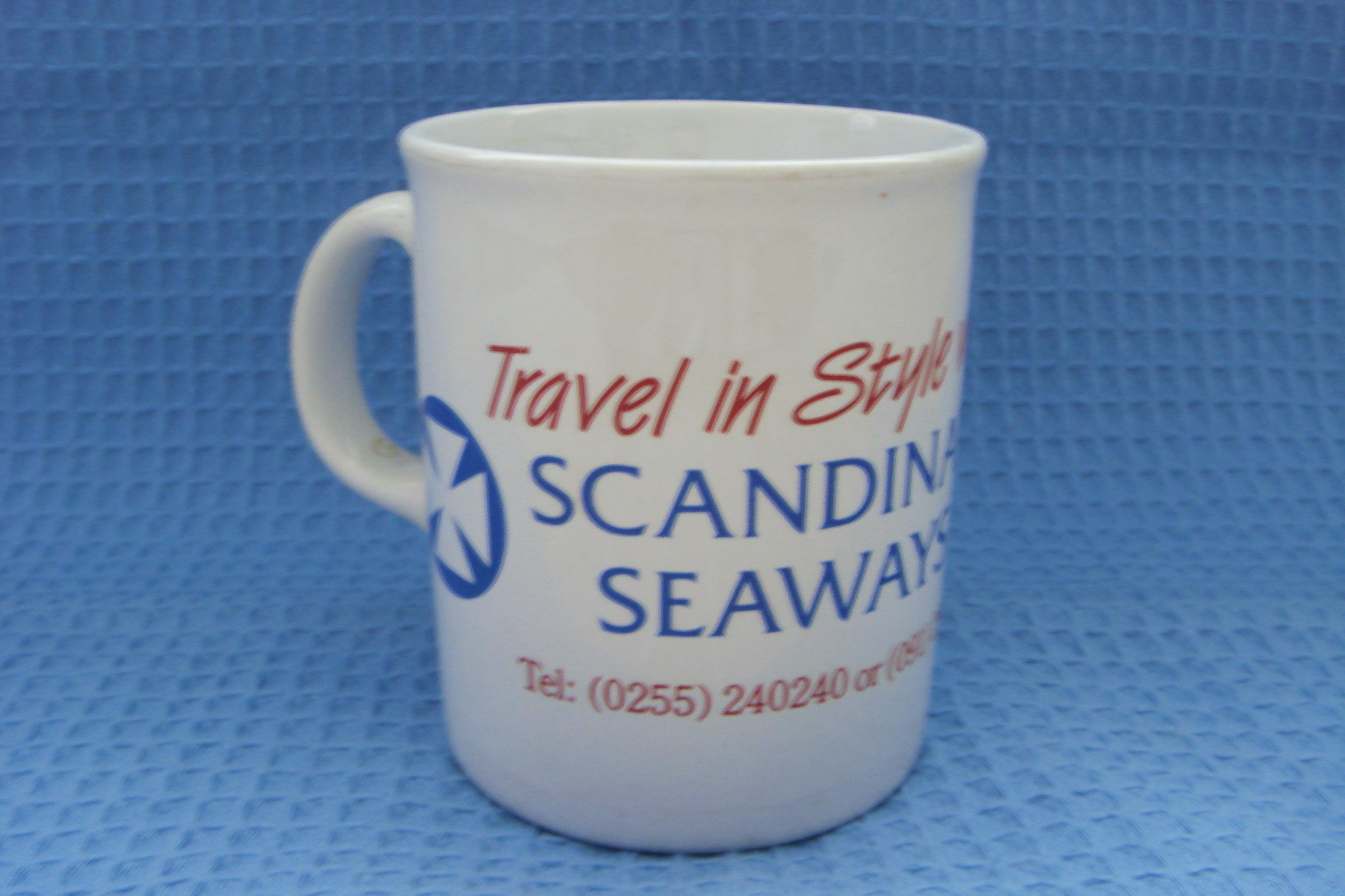 SOUVENIR CHINA MUG FROM THE SCANDINAVIAN SEAWAYS SERVICE COMPANY