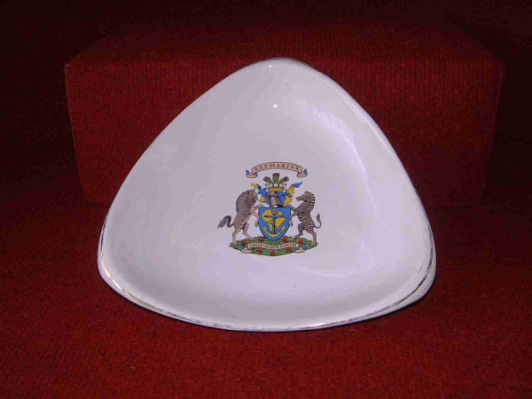 3-SIDED CHINA DISH FROM SOUTH AFRICAN MARINE LINE