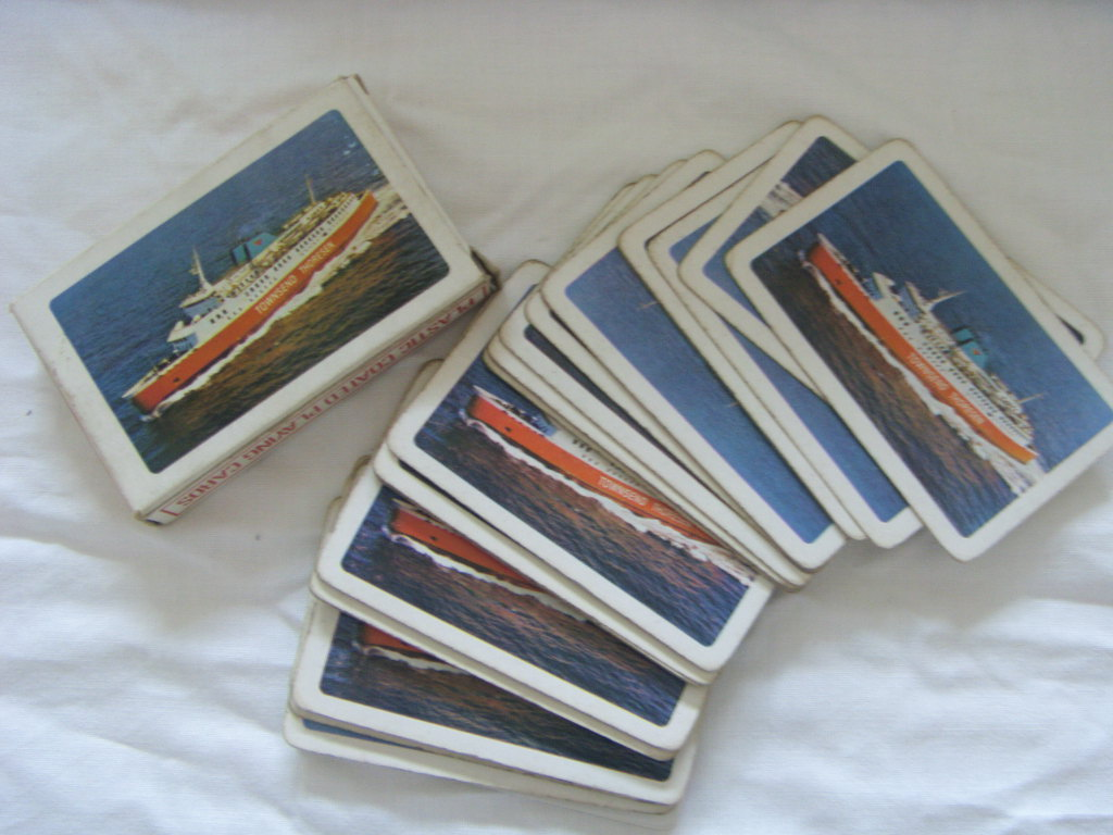 SET OF ORIGINAL PLAYING CARDS FROM THE TOWNSEND THORESEN COMPANY