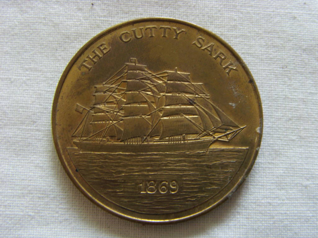 SOUVENIR COIN FROM THE VESSEL CUTTY SARK