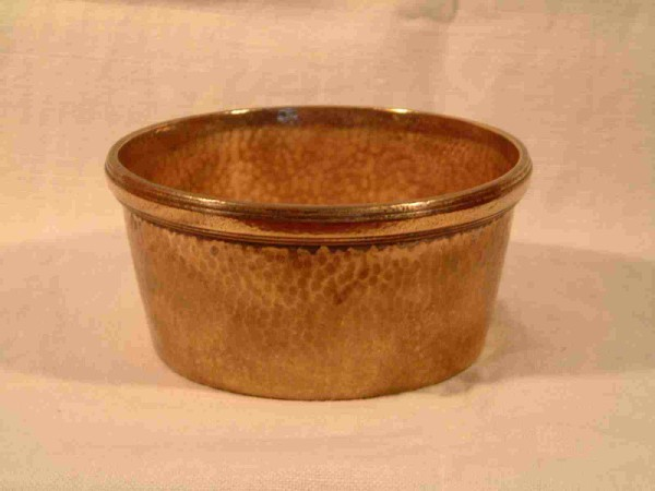 COPPER FINGER BOWL FROM THE LINER RMS QUEEN MARY