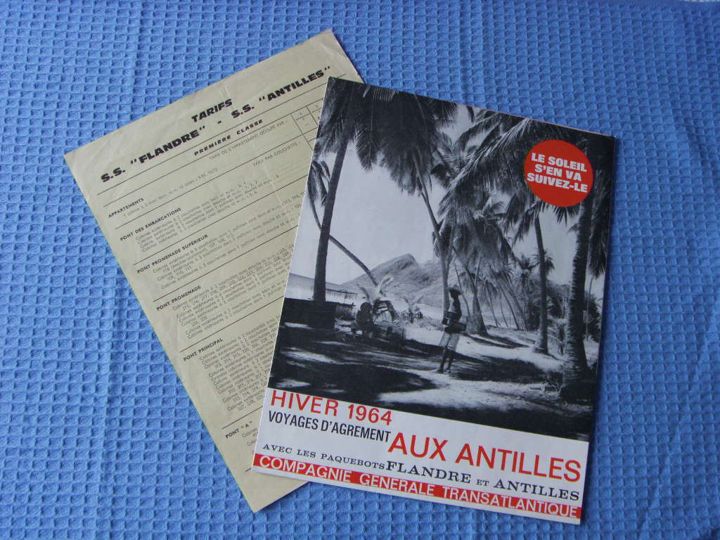 SHIPS CRUISE TIMES, FARES AND GUIDE DETAILS FROM THE FRENCH LINE DATED 1964