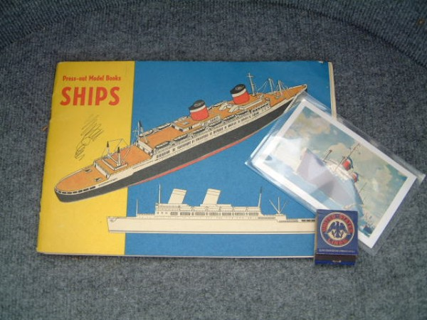 ON BOARD SOUVENIR ITEMS FROM THE AMERICA UNITED STATES LINE