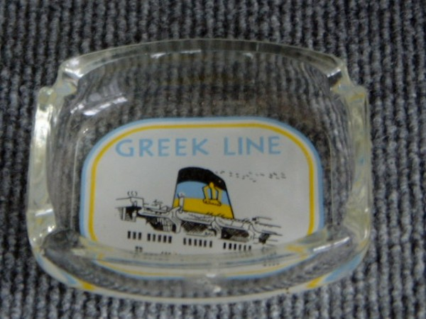 EARLY SHIPS ASHTRAY FROM THE GREEK LINE VESSEL 'ARKADIA'