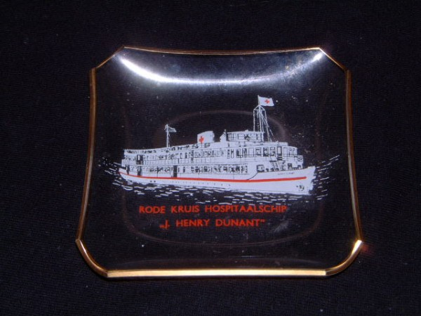 SOUVENIR CABIN ASHTRAY FROM THE OLD VESSEL J.HENRY DUNANT