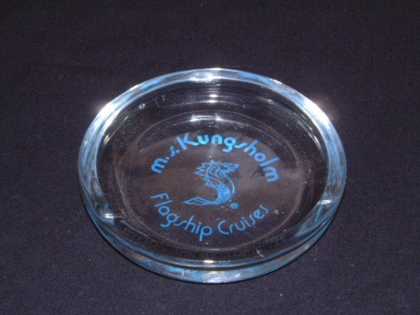 ASHTRAY FROM THE KUNGSHOLM OF THE SWEDISH AMERICA LINE