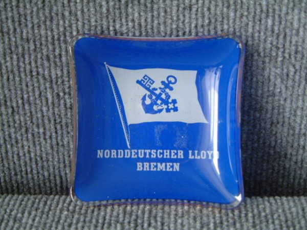 GLASS CABIN DISH FROM THE NORDDEUTSCHER LLOYD SHIPPING COMPANY