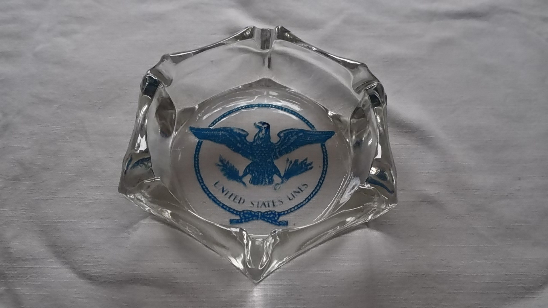 ORIGINAL CABIN ASHTRAY FROM THE UNITED STATES LINES