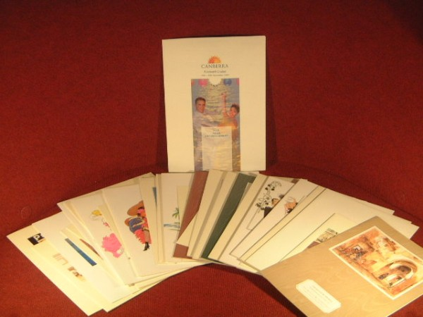 CANBERRA FAREWELL CRUISE COLLECTION OF MENUS AND BOOKLETS DATED SEPTEMBER 1997