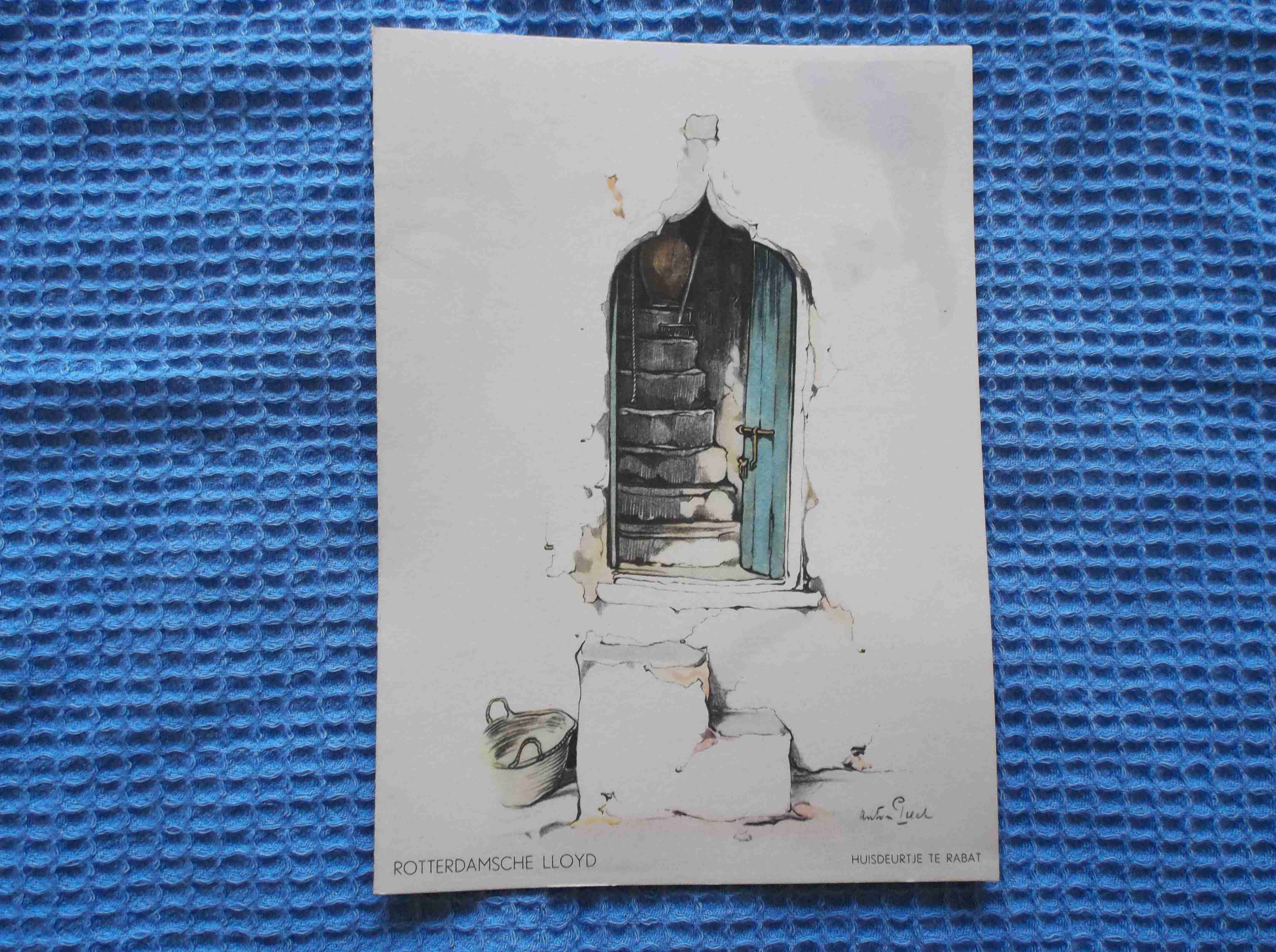 RARE SHIPS LUNCHEON MENU FROM THE LLOYD TRIESTINO VESSEL THE TMV WILLEM RUYS DATED 1949