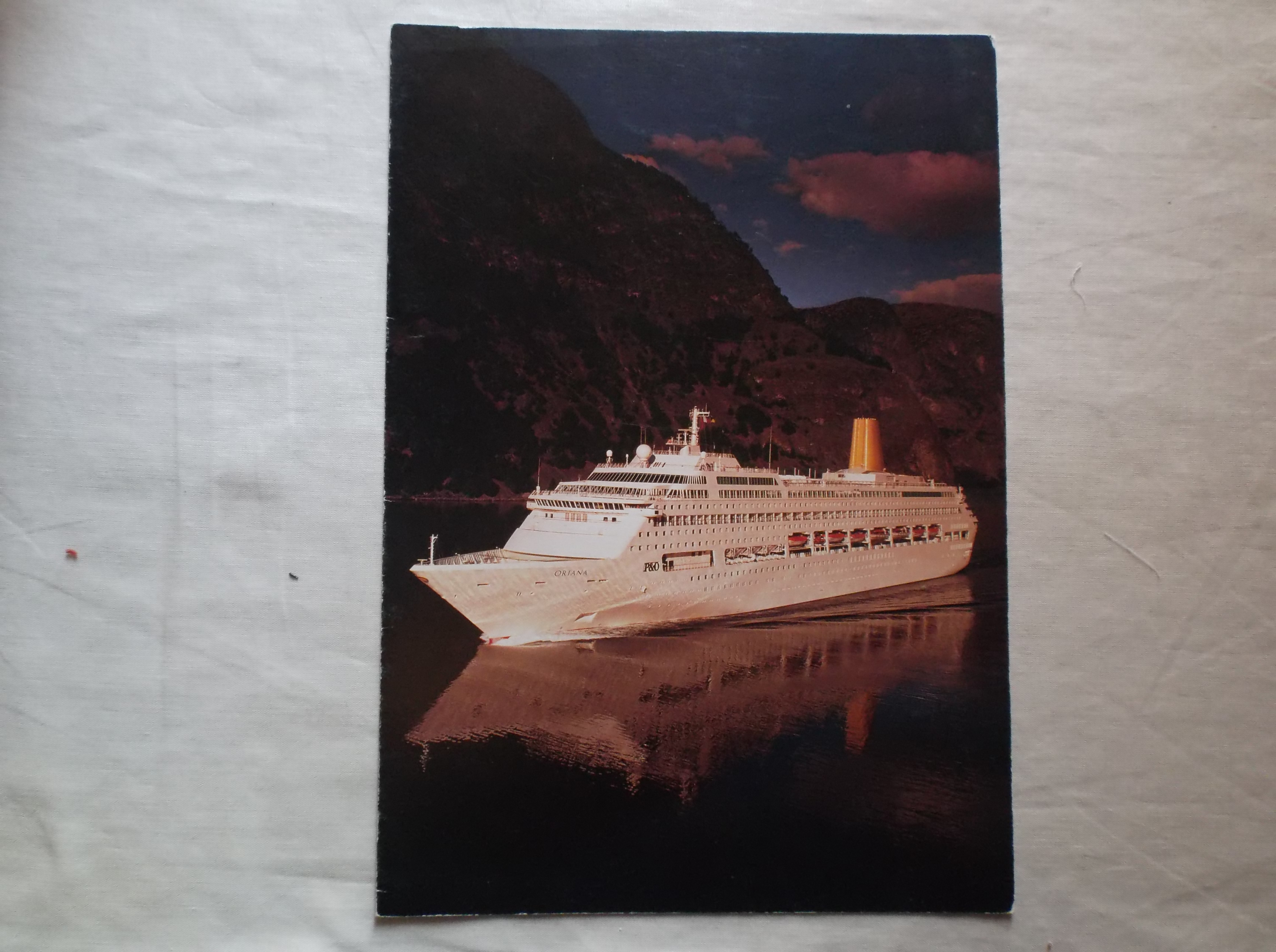 DINNER MENU FROM THE P&O LINE VESSEL THE ORIANA DATED NOVEMBER 1995