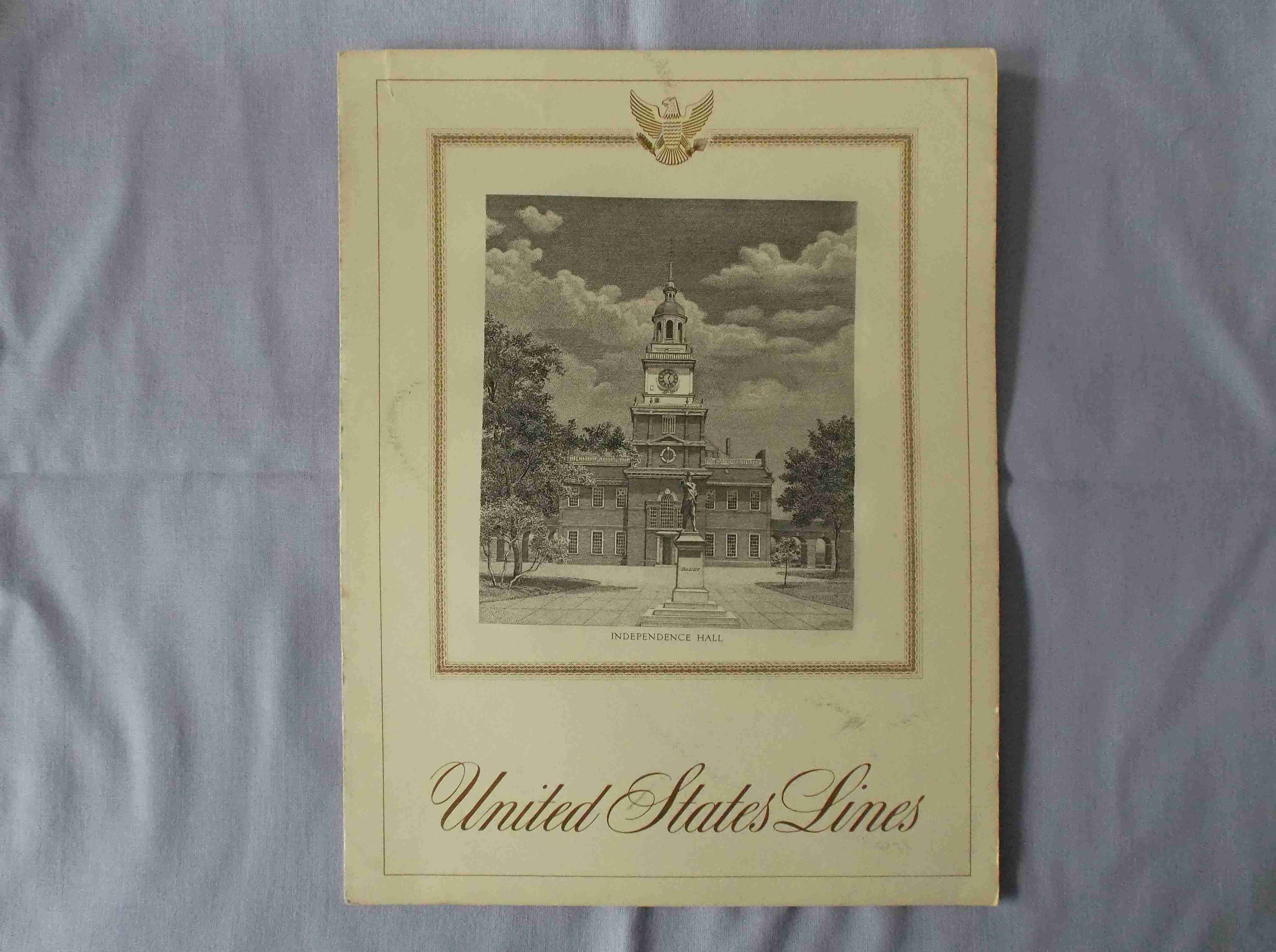LUNCHEON MENU FROM THE LINER SS UNITED STATES DATED JUNE 1969