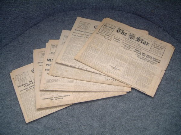 ORIGINAL CHANNEL ISLAND 'ISLAND AT WAR' NEWSPAPERS FROM WW2