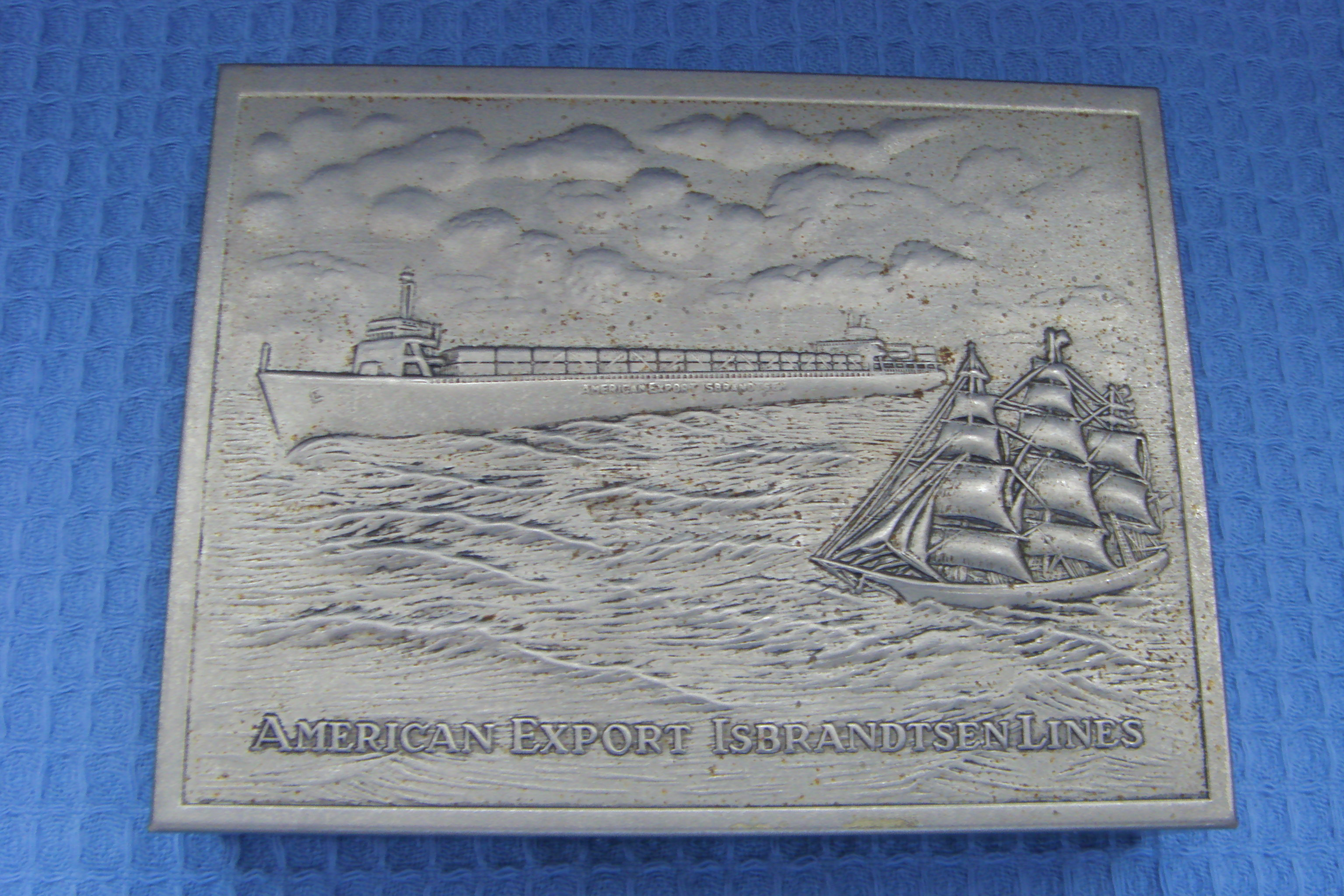 SOUVENIR CIGARETTE CASE FROM THE AMERICAN EXPORT ISBRANDTSEN LINES SHIPPING COMPANY