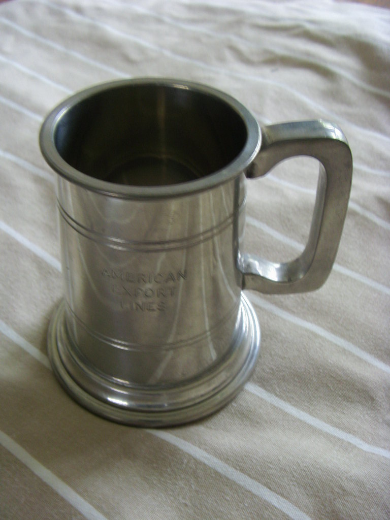 PEWTER JUG SOUVENIR FROM THE AMERICAN EXPORT LINES COMPANY CIRCA 1960's