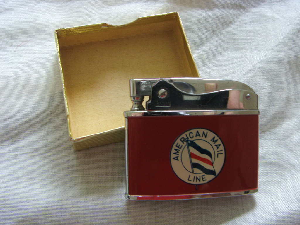 COMPANY CIGARETTE LIGHTER SOUVENIR FROM AMERICAN MAIL LINE