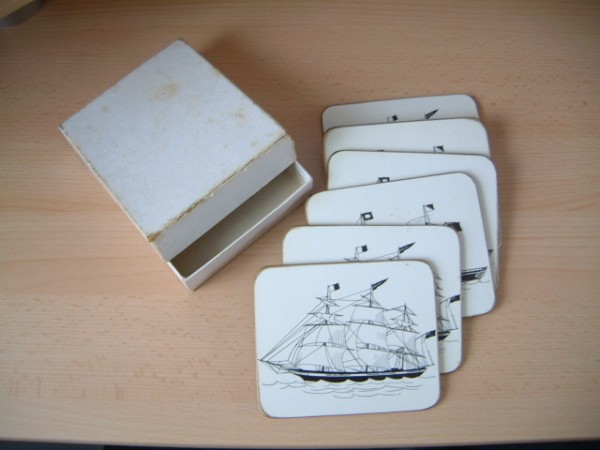 SET OF PLACE MATS/COASTERS FROM THE BROCKLEBANK LINE