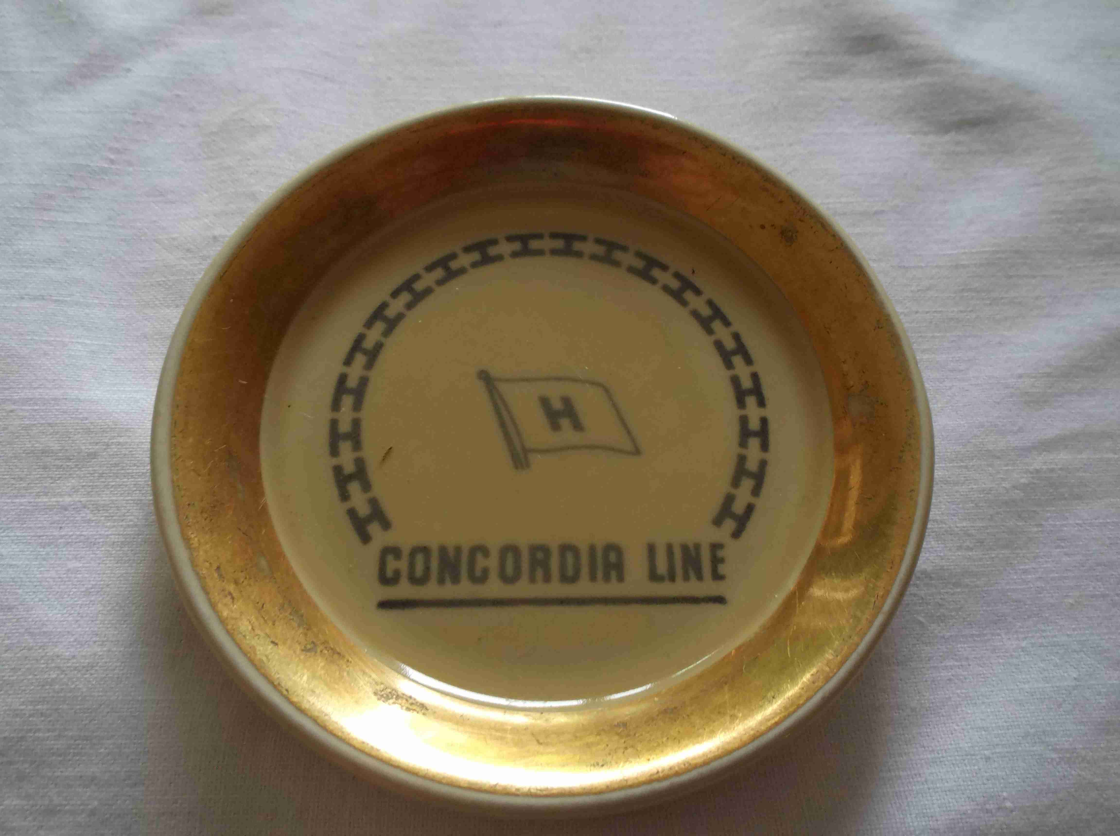 CHINA PIN DISH FROM THE CONCORDIA LINE SHIPPING COMPANY