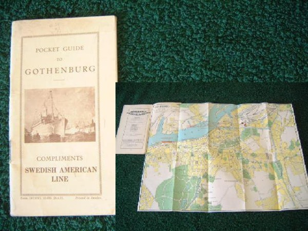 SHIPS GUIDE TO GOTHENBURG FROM THE SWEDISH AMERICAN LINE DATED 1927