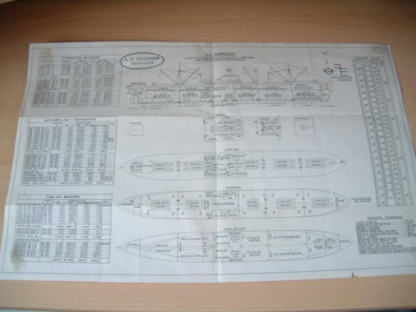ORIGINAL COMPANY SHIPS PLAN OF THE SS GRONLAND