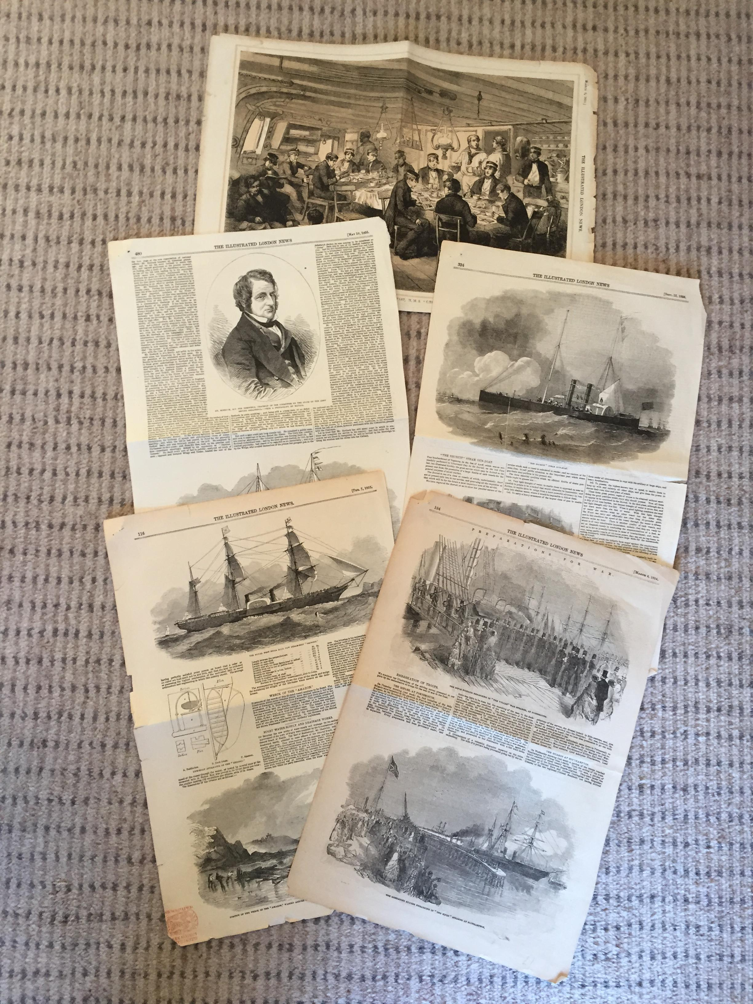 ARTICLES FROM THE 1800's FROM THE ILLUSTRATED LONDON NEWS