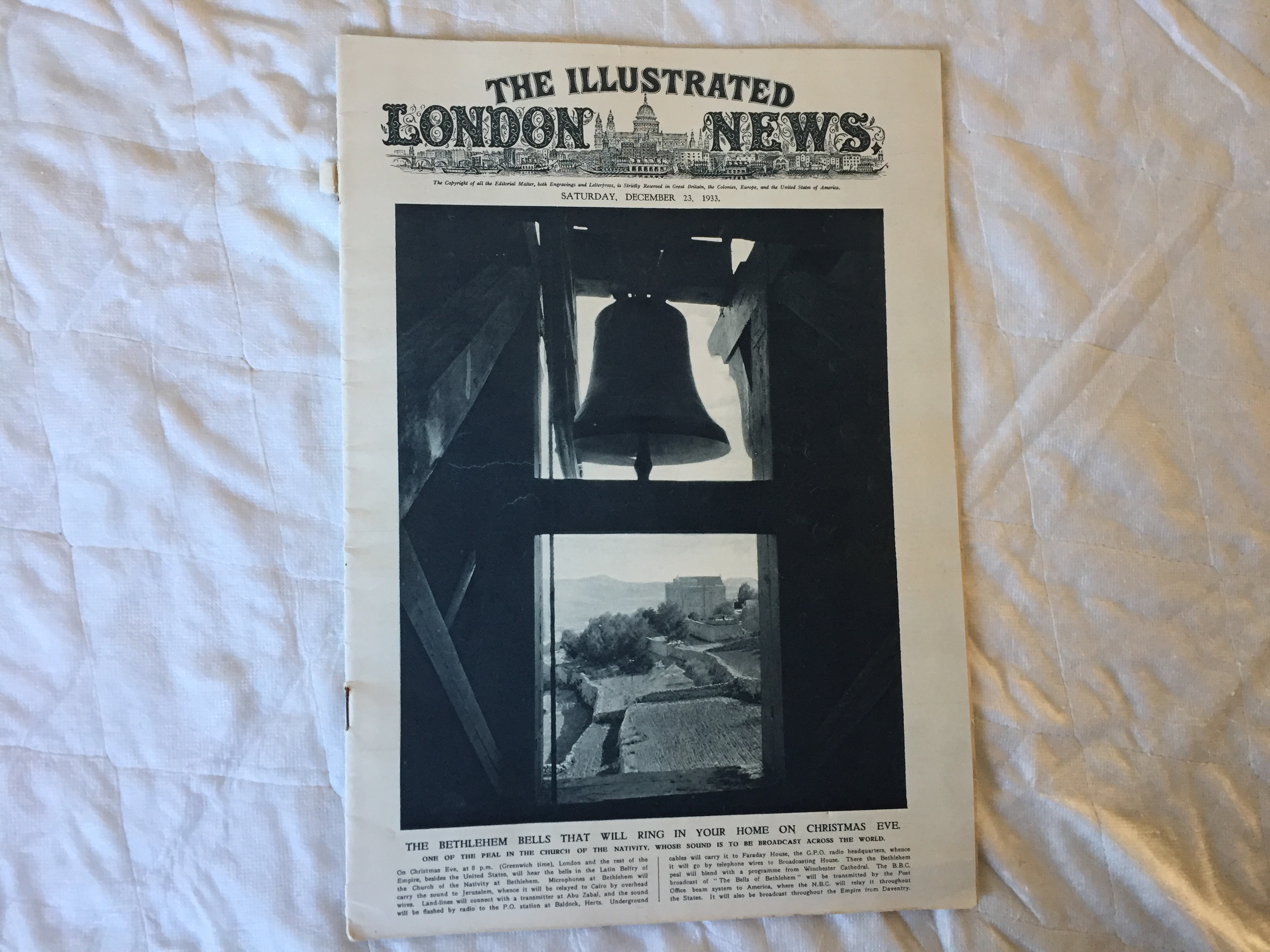 1933 EDITION OF THE ILLUSTRATED LONDON NEWS