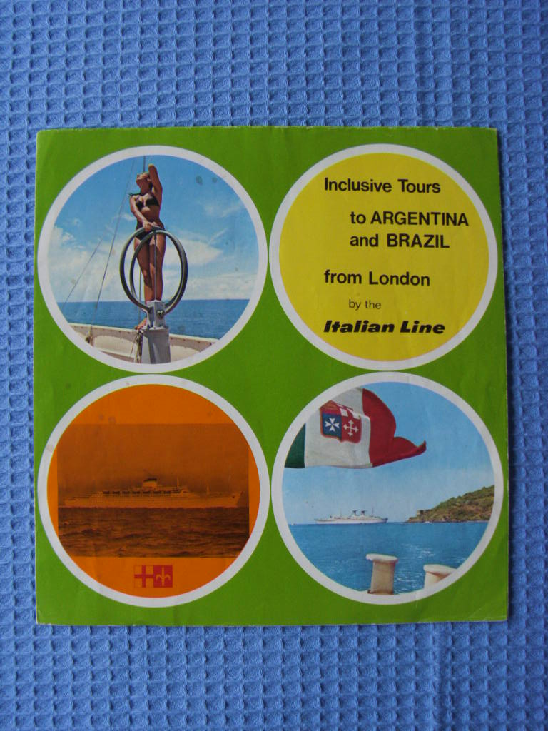 TOURS INFORMATION BOOKLET FROM THE ITALIAN LINE DATED 1974