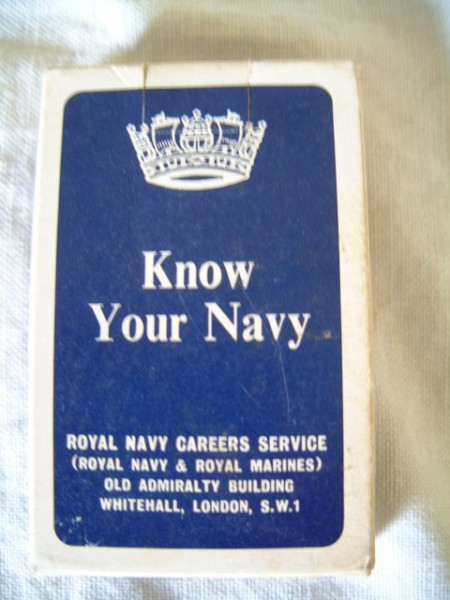 SET OF 'KNOW YOUR NAVY' CARDS FROM THE 1950