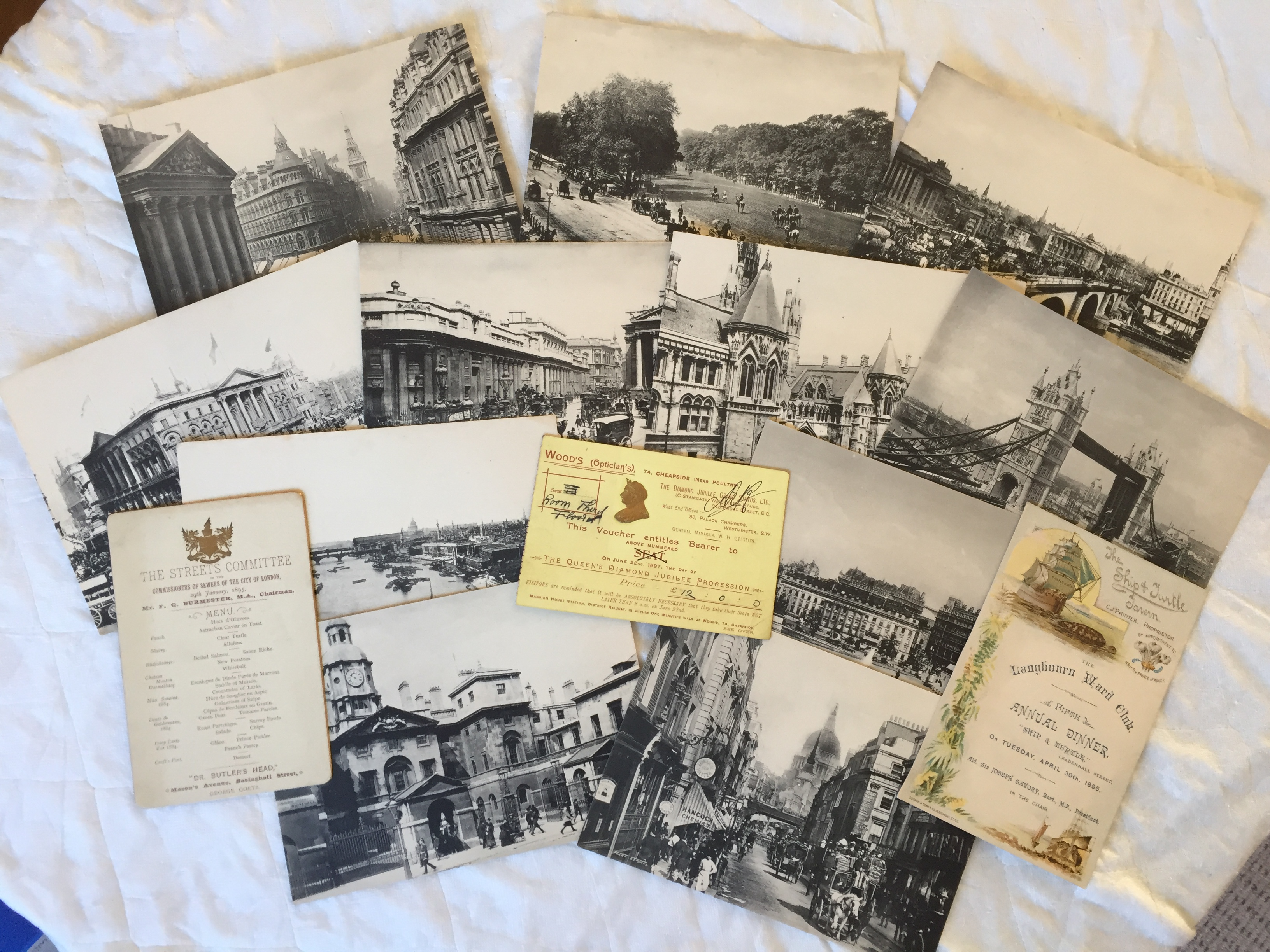 COLLECTION OF LATE VICTORIAN LONDON ITEMS