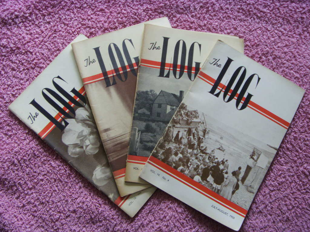 SET OF 4 EDITIONS OF THE MARITIME BOOKLET ENTITLED 'THE LOG' FROM THE EARLY 1950's