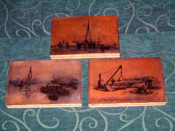 SET OF 3 ORIGINAL COPPER PRINTING BLOCKS FROM THE 1880-90