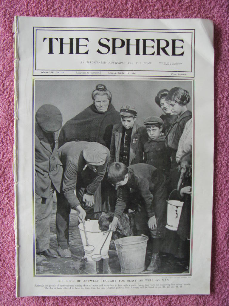 COPY OF THE ILLUSTRATED NEWSPAPER 'THE SPHERE' FROM 1914