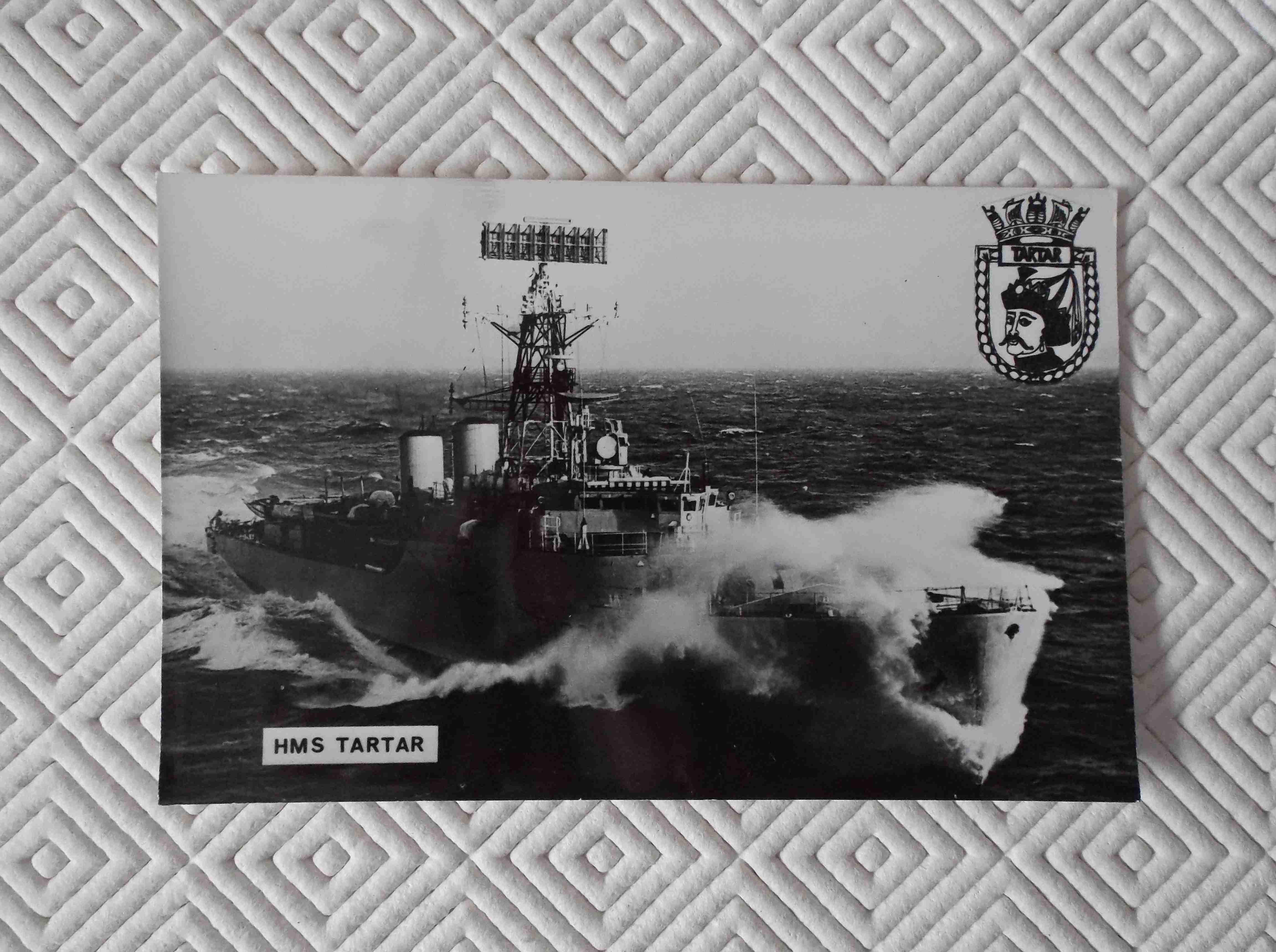 POSTCARD SIZE PHOTOGRAPH OF THE ROYAL NAVAL VESSEL HMS TARTAR