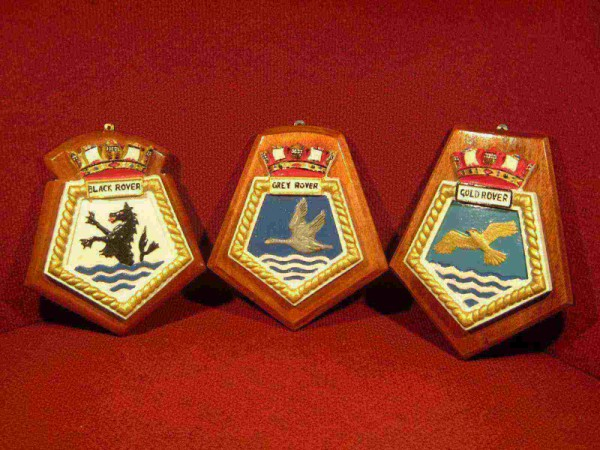 SET OF NAVAL SUPPLY SHIPS PLAQUES