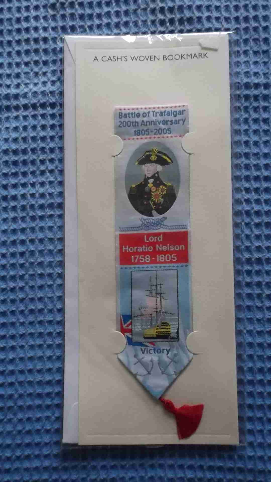 MATERIAL BOOKMARK COMMEMORATING THE 200TH ANNIVERSARY OF THE BATTLE OF TRAFALGAR