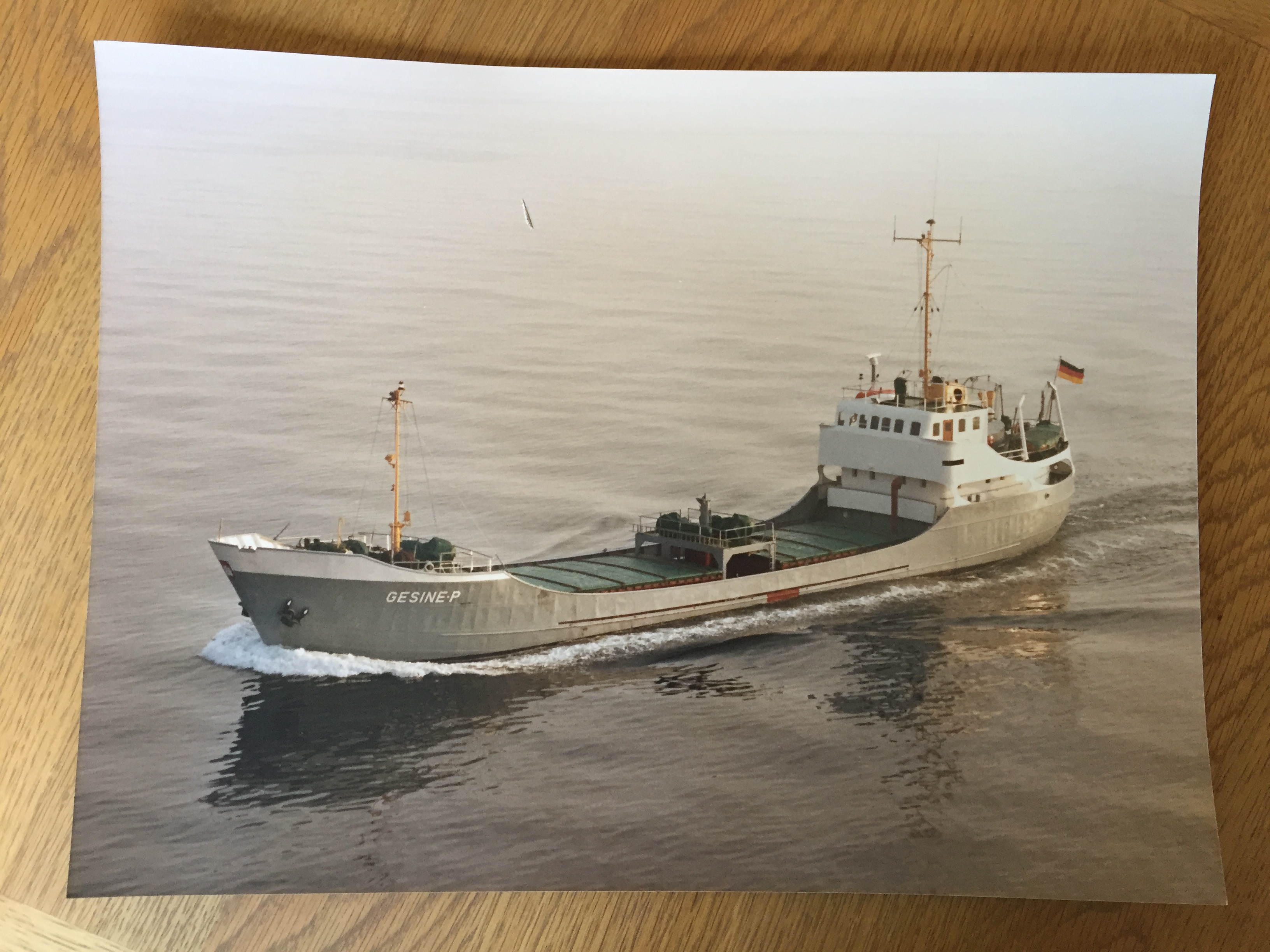 LARGE SIZE COLOUR PHOTOGRAPH OF THE CONTAINER VESSEL GESINE P