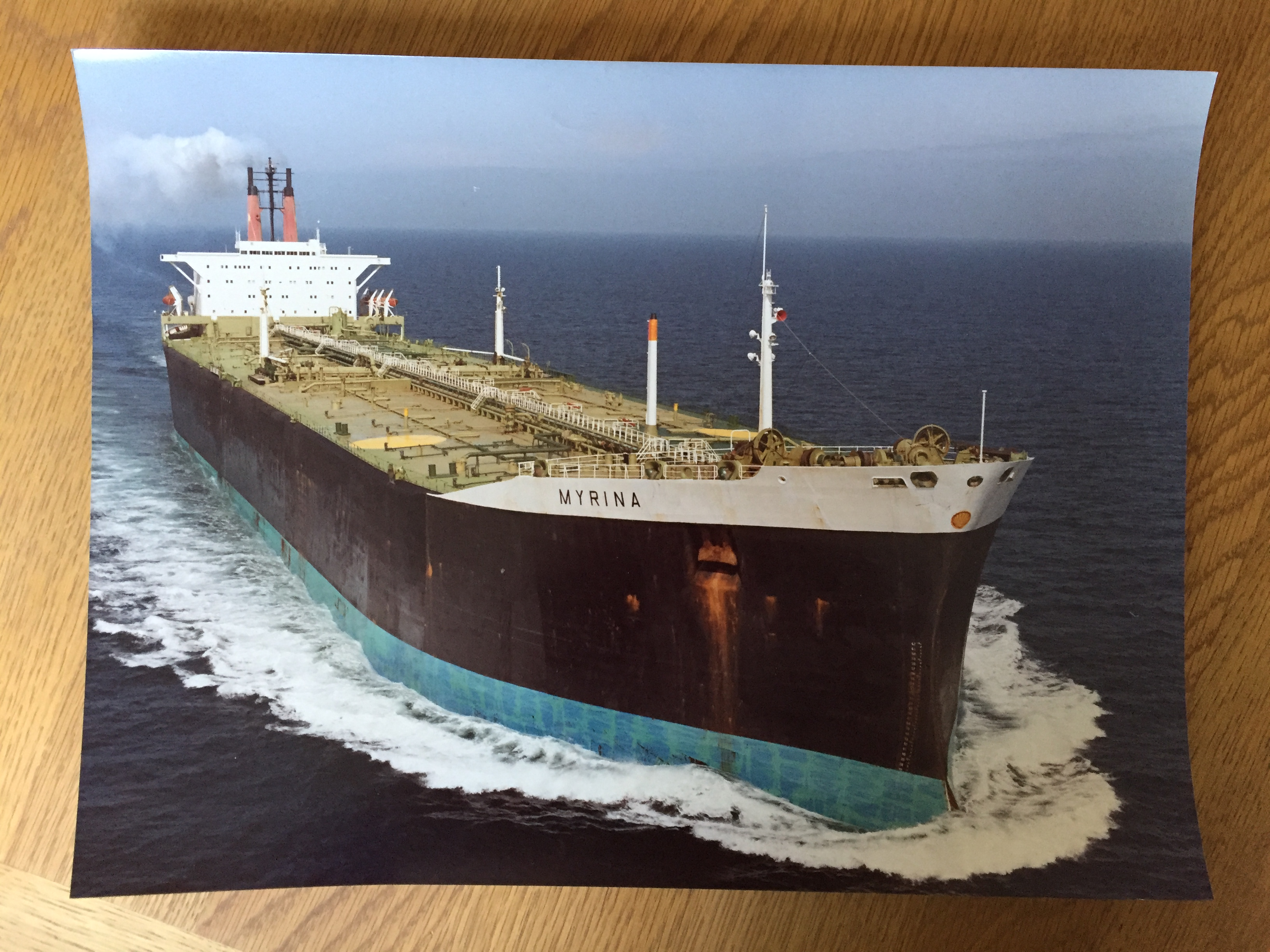 LARGE SIZE COLOUR PHOTOGRAPH OF THE CONTAINER VESSEL MYRINA