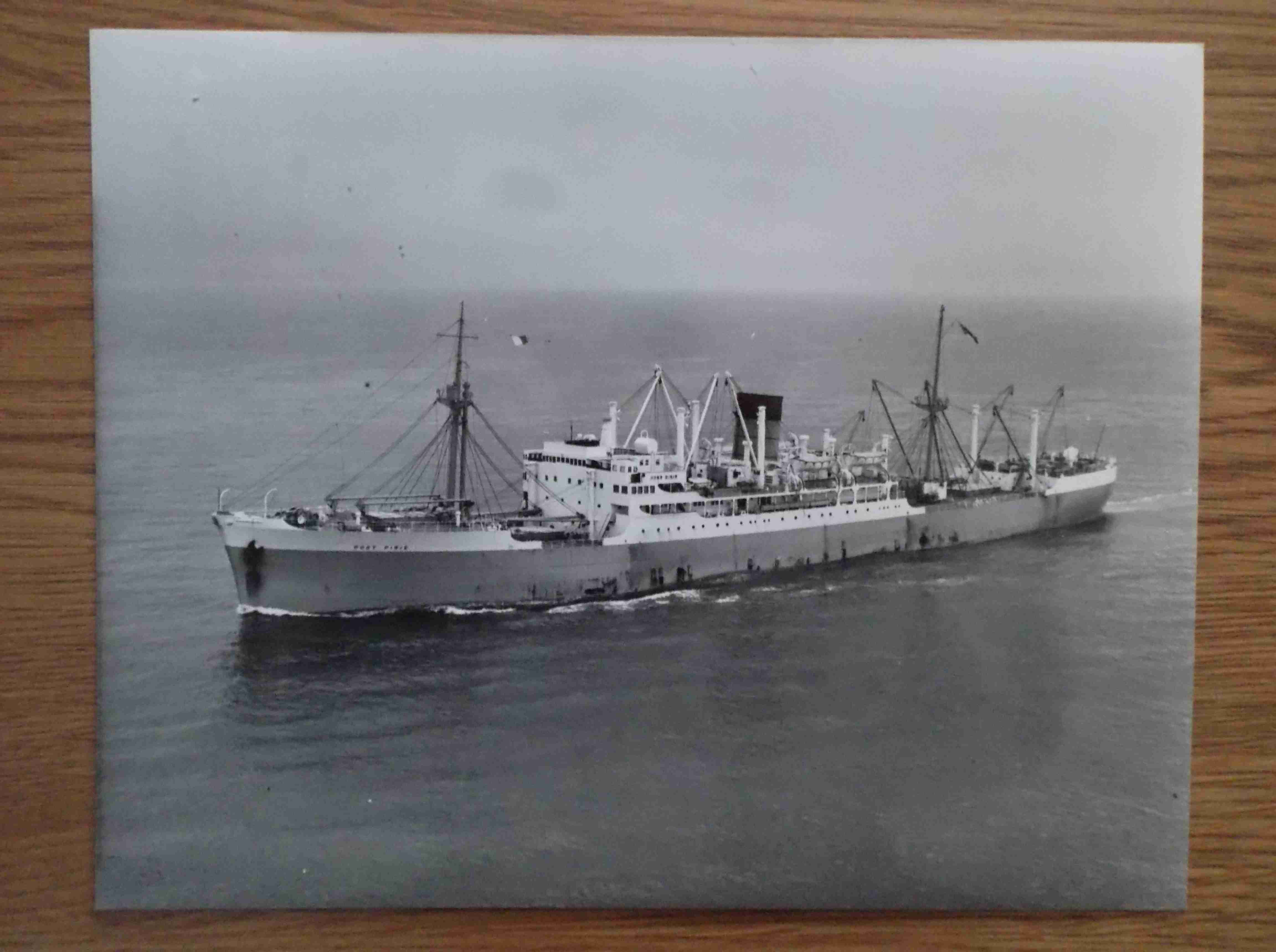 LARGE B/W PHOTOGRAPH OF THE PORT LINE VESSEL THE PORT PIRIE