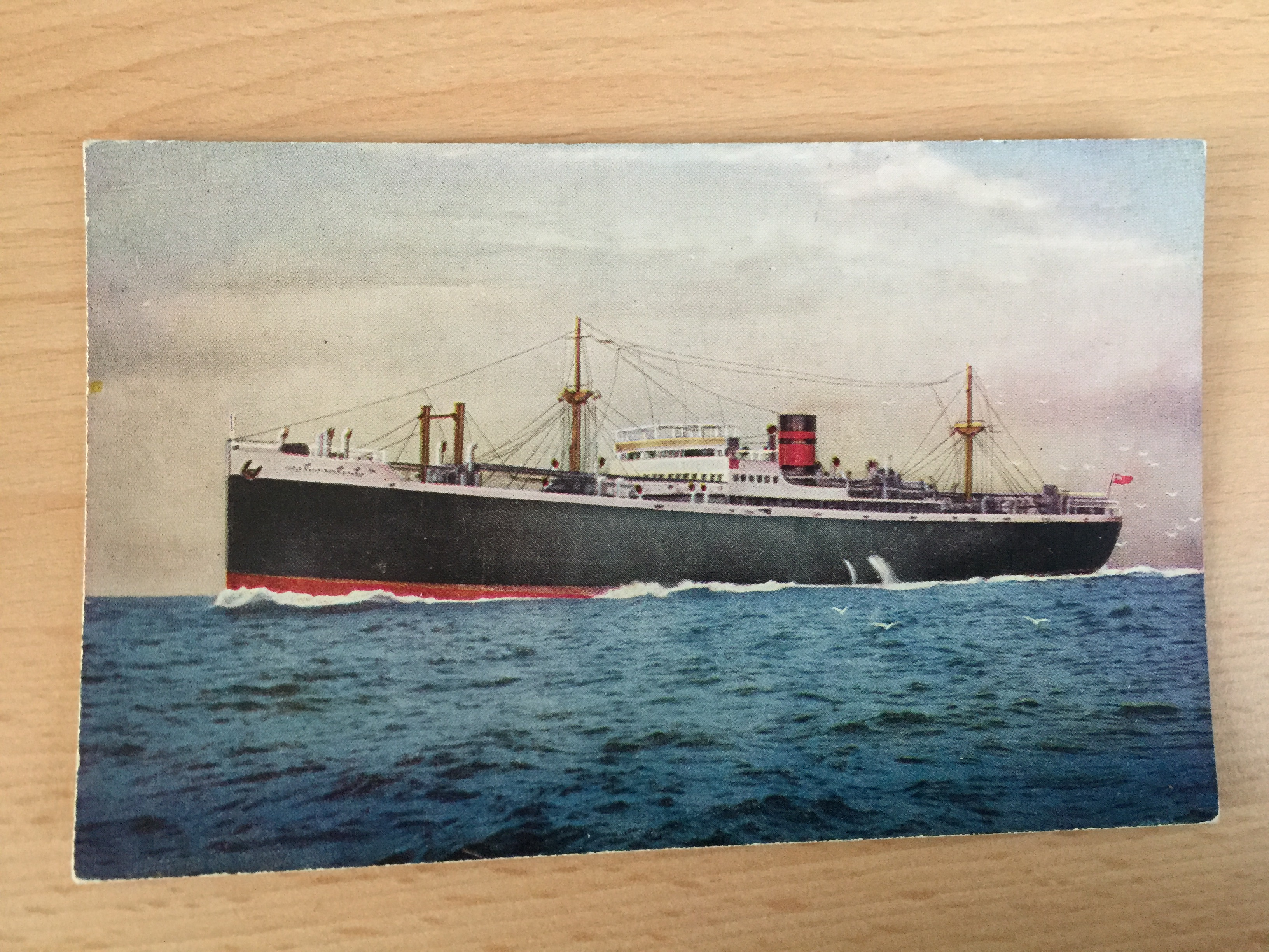 COLOUR POSTCARD OF THE FURNESS LINE VESSEL THE PACIFIC GROVE
