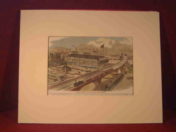 PRINT OF THE FORESTS LIFE BOAT YARD IN LONDON, ENGLAND