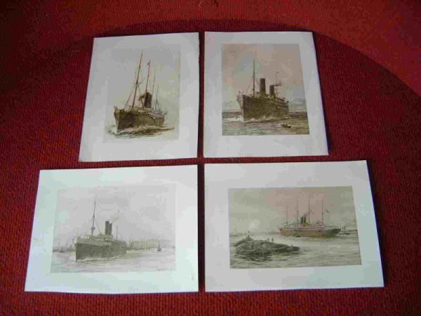 SET OF FOUR SUPERB SEPIA S.WYLLIE PRINTS PRE 1900