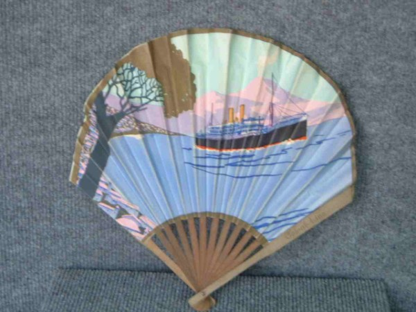 ORNATE WOOD & PAPER FAN FROM THE ORIENT LINE