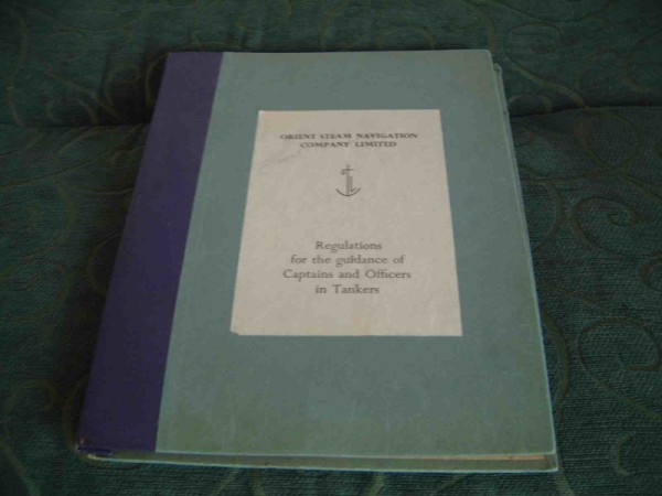 REGULATION GUIDE BOOK FROM THE ORIENT STEAM NAVIGATION CO.