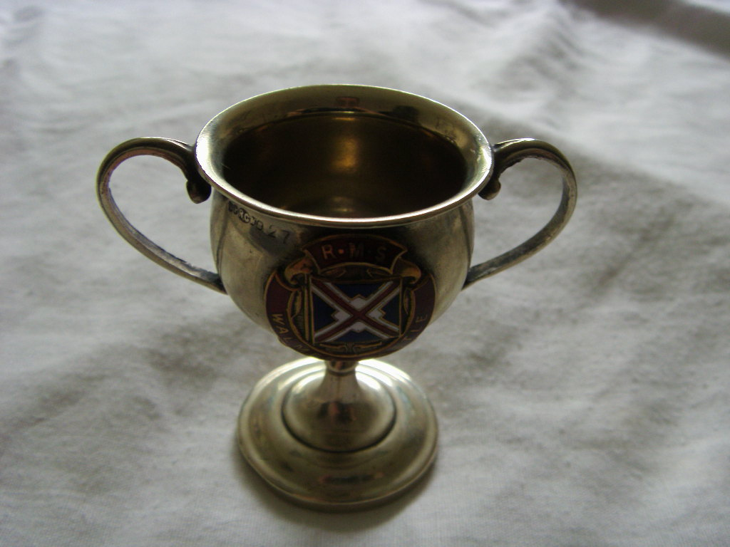 SOUVENIR SMALL CUP FROM THE RMS WALMER CASTLE