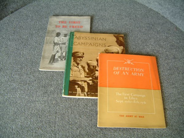 COLLECTION OF ORIGINAL MILITARY CAMPAIGN BOOKS