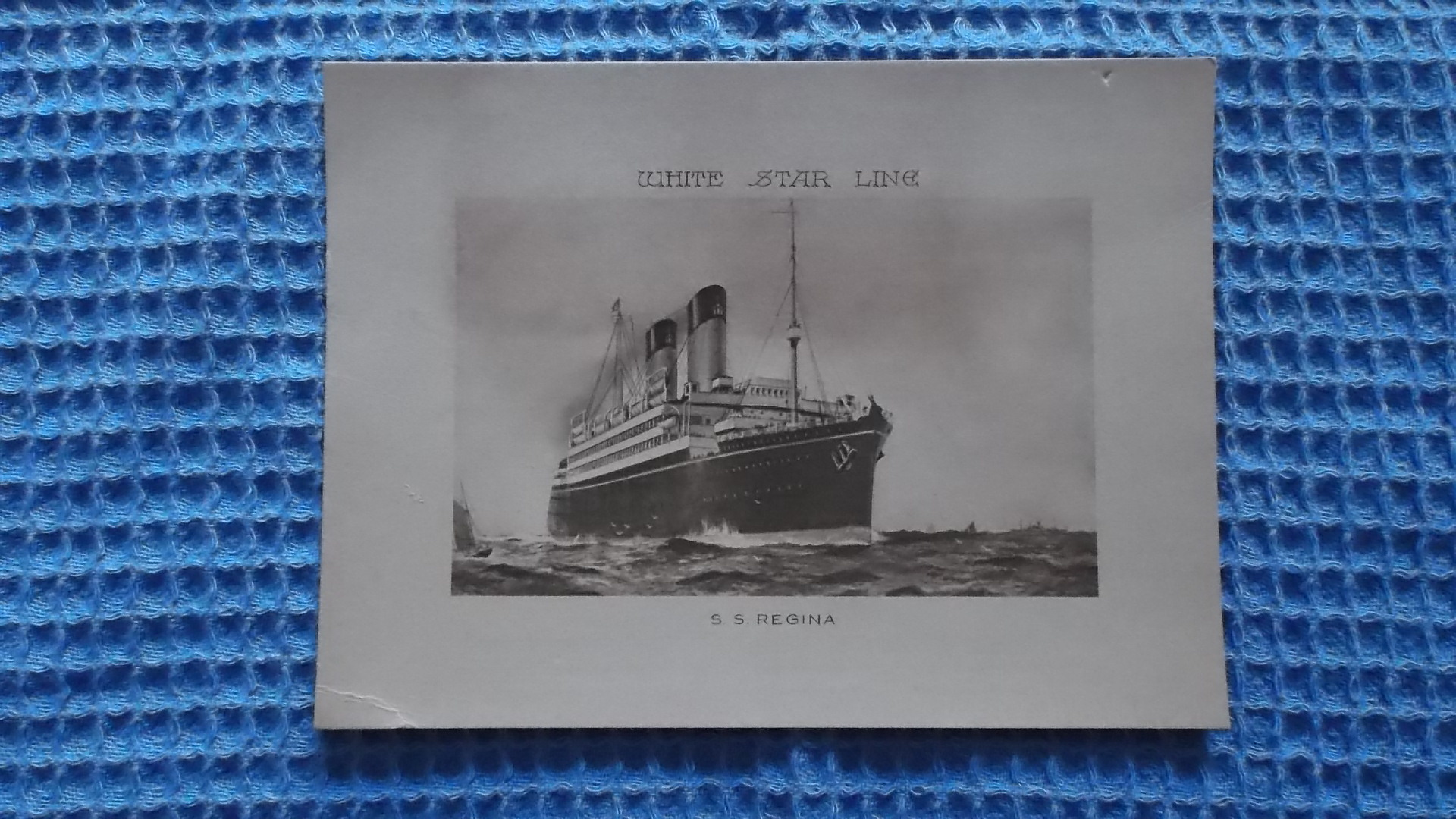 ABSTRACT OF LOG CARD FROM THE WHITE STAR LINE VESSEL THE SS REGINA